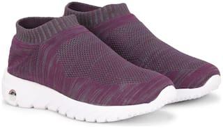 Columbus Women Grey & Purple Slip-On Shoes