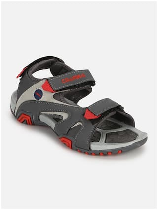 Columbus Men Grey Sports Sandals