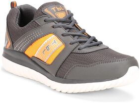 Columbus Men Tb-324-dgreyorange Grey Running Shoes