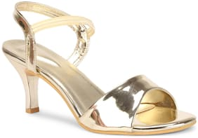 Commander Women Gold Heeled Sandals