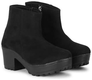 Commander Women Black Ankle length Boots