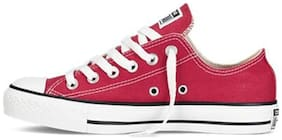Converse Women's Red Canvas Sneakers
