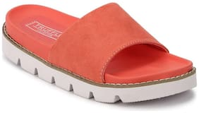 Truffle Collection Coral Suede Cleated Slip-On Flats