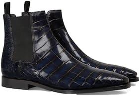 COSTOSO ITALIANO Men Blue Chelsea Boots
