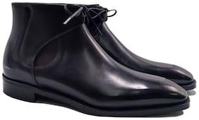 COSTOSO ITALIANO Men Black Chelsea Boots