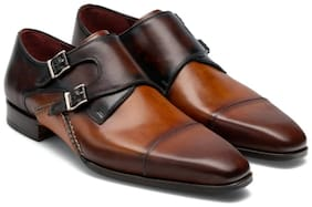 COSTOSO ITALIANO Men Brown Monk Shoes Formal Shoes