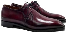 COSTOSO ITALIANO Men Red Derby Formal Shoes