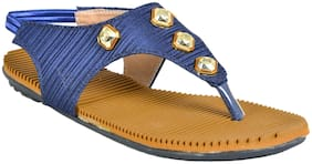 Crazy Bunny Women Blue Sandals