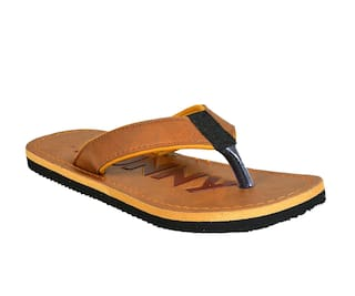 Crazy Bunny Men Brown Flip-Flops