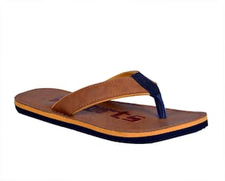 Crazy Bunny Men Brown Flipflop - Cbf0018
