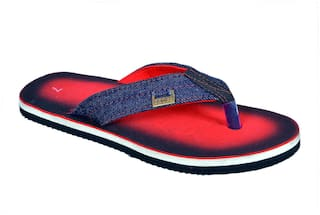 f3738e395153f Crazy Bunny Men Red Flipflop