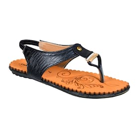 Crazy Bunny Women Black Sandals