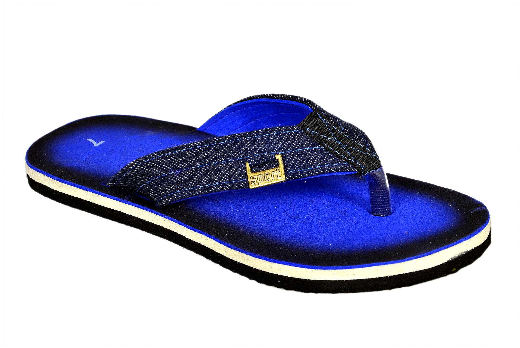 Crazy Bunny Men Navy Blue Casual Outdoor Slippers