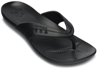 708ab8ba2 Buy Crocs Black Flip Flops Online at Low Prices in India - Paytmmall.com
