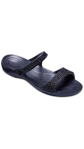 cdc3011404f Buy Crocs Black Slippers Online at Low Prices in India - Paytmmall.com