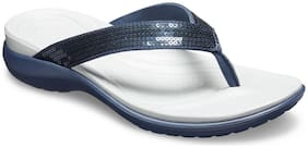 Crocs Women Blue Slippers