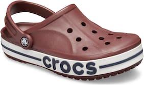 Crocs Men Burgundy Navy Bayaband Clogs 205089-6RG