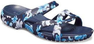 Crocs Women Navy Meleen Twist Graphic Sandals 204703-97P