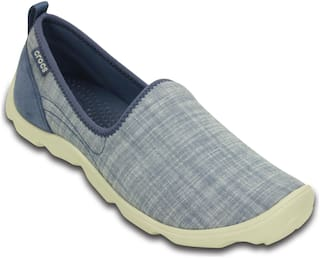 Crocs Women Busy Day Chambray Skimmer Shoes