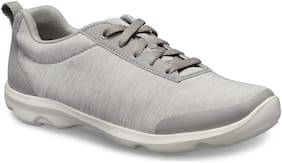 Crocs Women Grey Busy Day Heather Lace-up Casual Shoes 204725-0FV
