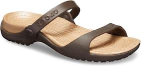 Crocs Women Brown Cleo Flat Sandals 10043-23Q