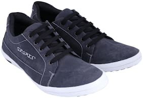 CRUNX Men Grey Casual Shoes