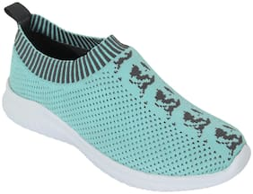 Cubane-50 Women Turquoise Slip-On Shoes