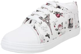 Cubane-50 Women White Sneakers