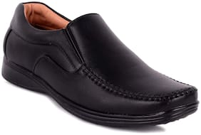D.S.P. Men Black Synthetic  Leather Formal Shoes