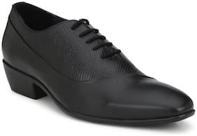 Delize Artificial Leather Black Formal Shoes