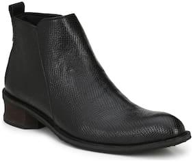 Delize Men Black Ankle Boots - 56031