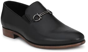 Delize Black Slip On Shoes For Men's