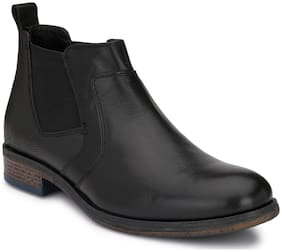 Delize Men Black Chukka Boots