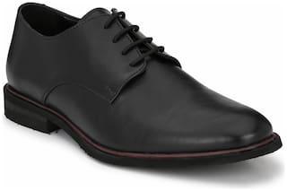 Delize Men Black Derby Formal Shoes