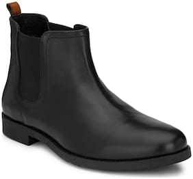 Delize Men Black Ankle Boots