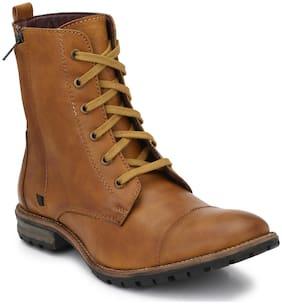 Delize Men Tan Outdoor Boots