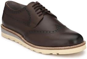 Delize Brogue Genuine Leather Brown Formal Shoes
