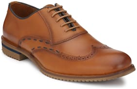 Delize Men Tan Formal Shoes