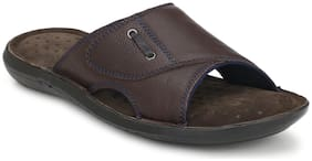 Delize Men Brown Outdoor Slippers & Flipflop