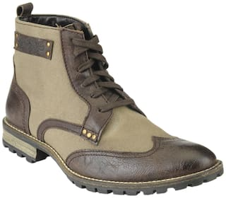 Delize Men's Brown Ankle Boots