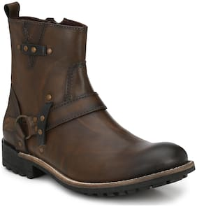 Delize Men Brown Ankle Boots
