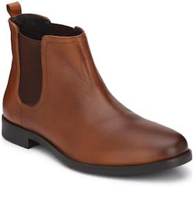 Delize Men's Tan Ankle Boots