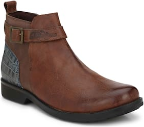 Delize Brown Chukka Boots  with Genuine Leathers
