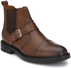 Delize Men's Brown Chukka Boots