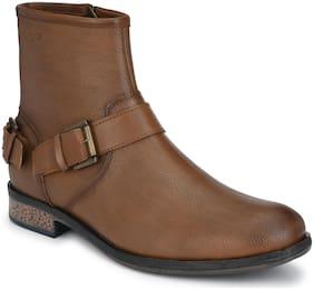Delize Men Brown Chelsea Boots