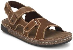 Delize Men Brown Sandals & Clogs