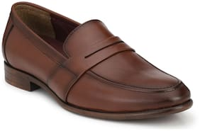 Delize Dark Brown Slip On Shoes