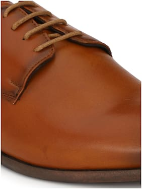 Delize Men Tan Derby Formal Shoes - 55703