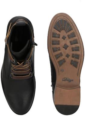 Delize Men Black Ankle Boots - 56050