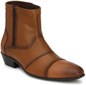 Delize Men's Tan Ankle Boots